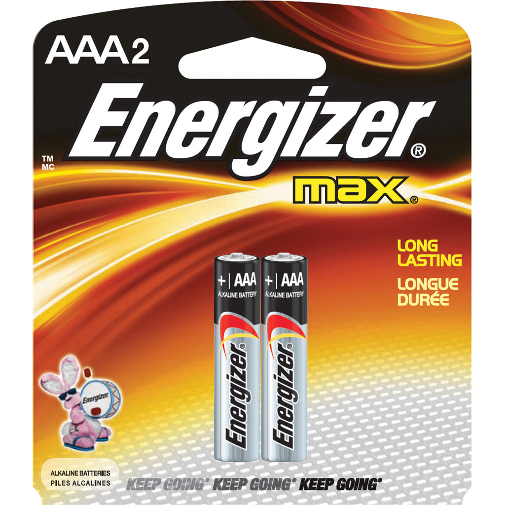 Energizer Max AAA 2 Blister Pack