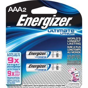 Energizer Ultimate Lithuim AAA 2 Pack