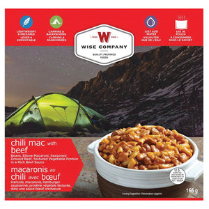 Wise Company Camping Food -Chili Mac w/Beef