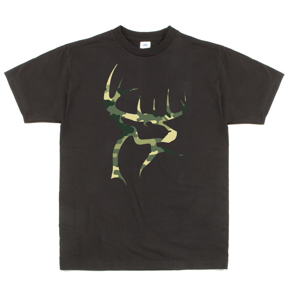 Unisex Custom Graphic Camo Buck Tee