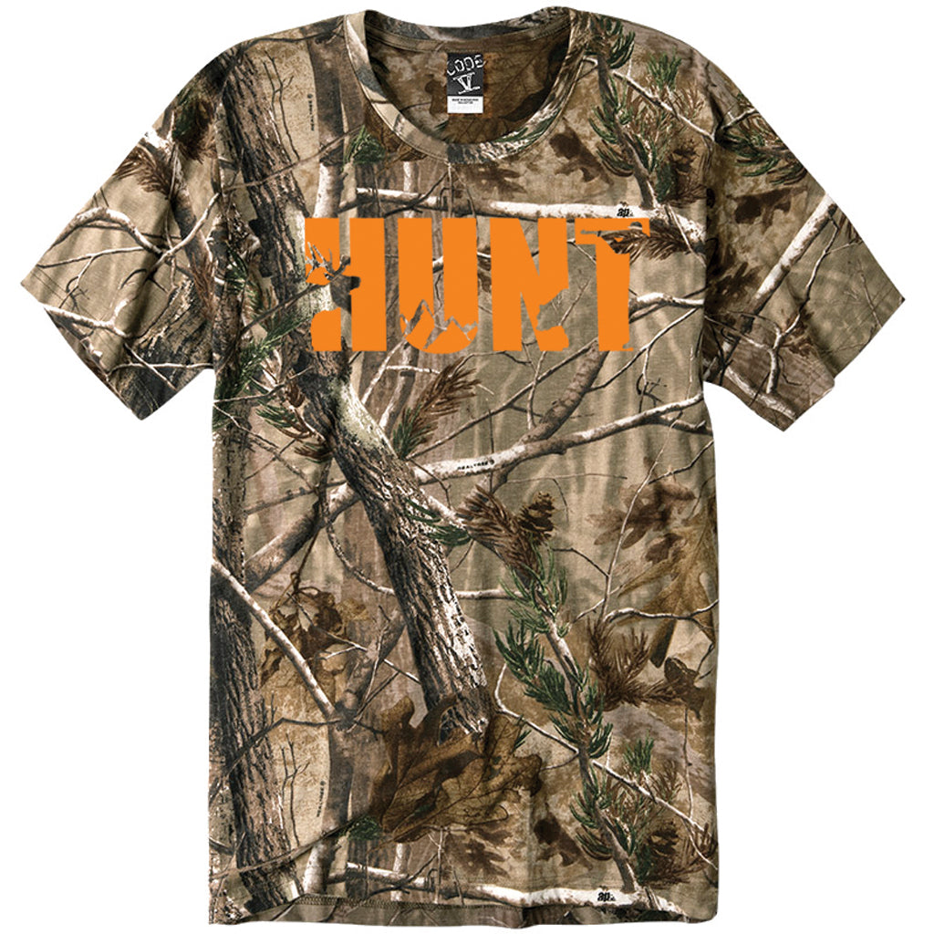 Women's Custom Printed Camo Hunt Tee