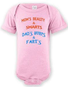 Infant Printed Mom & Dad Onesie