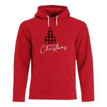 Load image into Gallery viewer, Custom Hoody - Plaid Merry Christmas