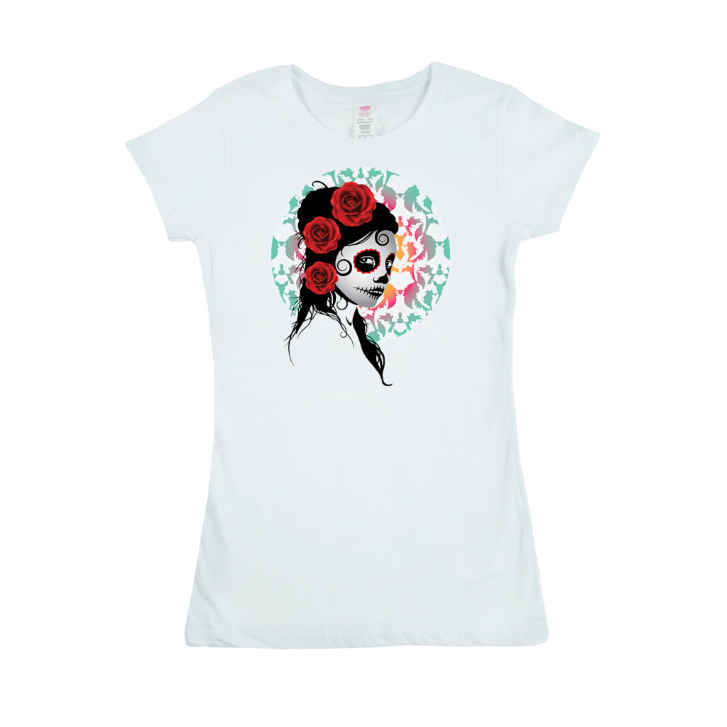 Women's Custom Printed Roses Tee