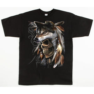 Unisex Custom Printed Wolf Headress Tee