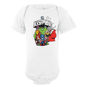 Custom Printed Infant Avengers Assemble Onesie