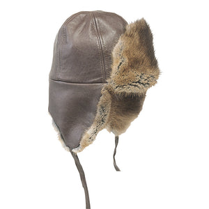 Muskrat Fur Aviator Hat