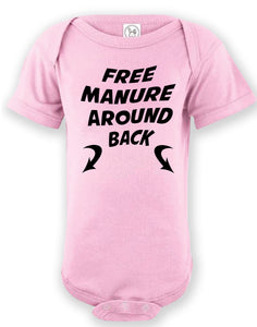 Infant Custom Printed Free Manure Onesie