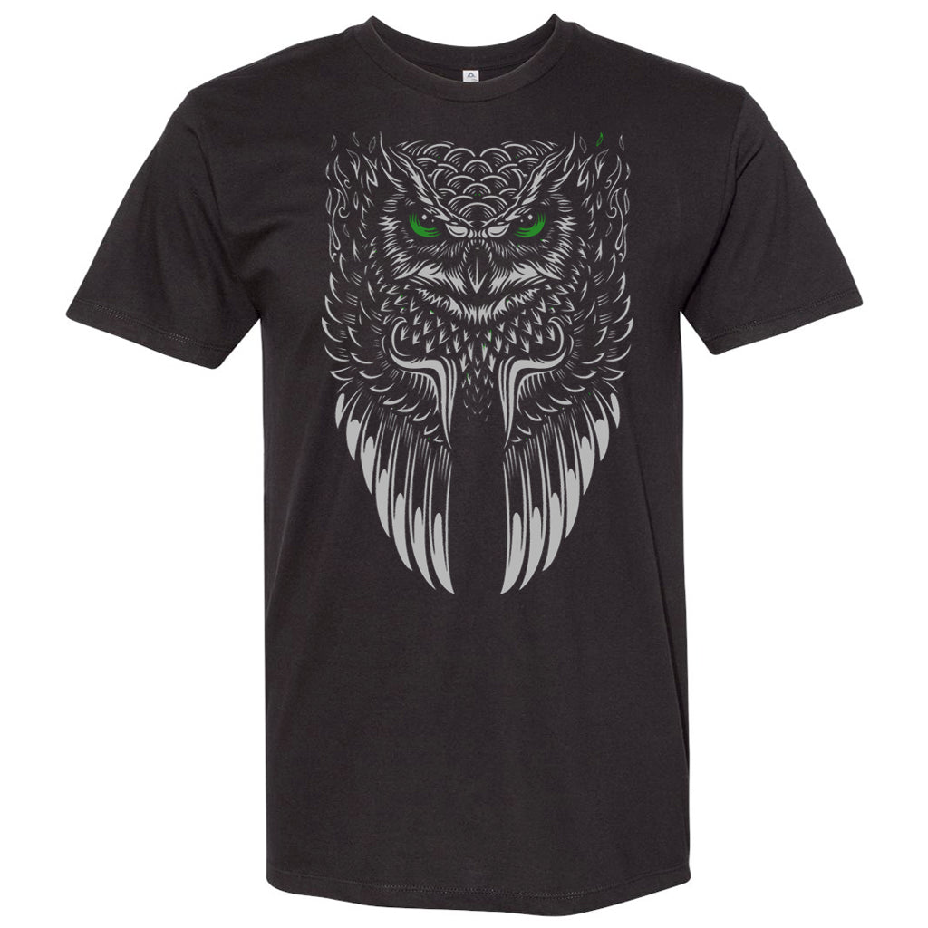 Unisex Custom Printed Tee- Tribal Owl