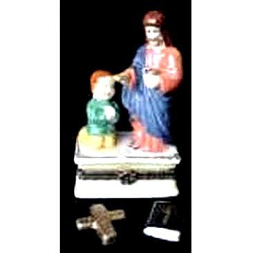 Jesus with Little Boy Trinket Box