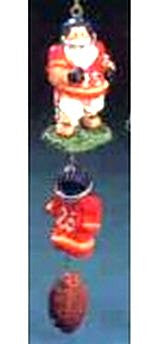 Football Santa Dangle Ornament