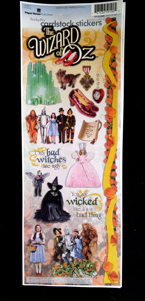 Wizard of Oz Cardstock Stickers