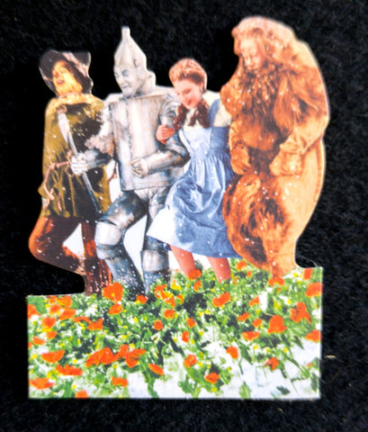 Wizard Of Oz Mini Diecut For Scrapbooking - 4 Characters in Poppy Field