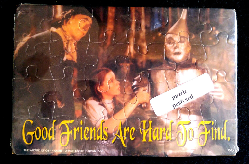 Wizard of Oz Good Friends Puzzle Postcard