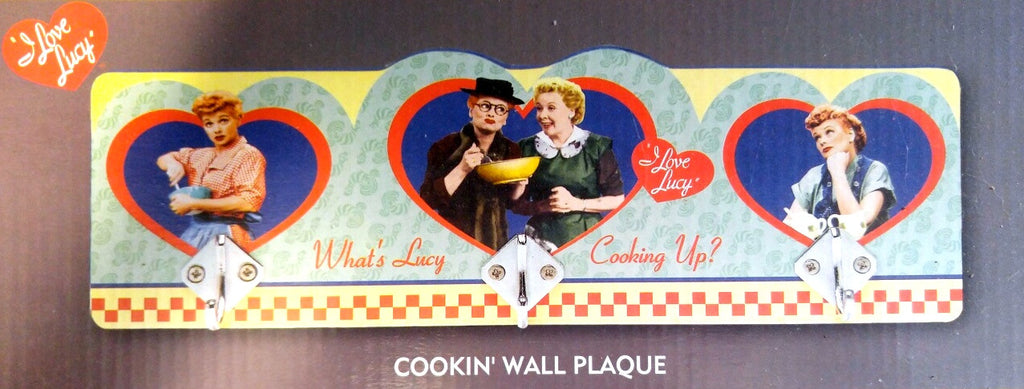 I Love Lucy Cooking Wall Plaque With Hooks