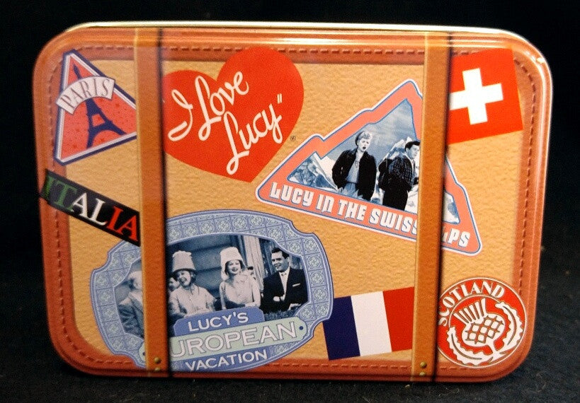 I Love Lucy European Vacation Tin Box with Notecards