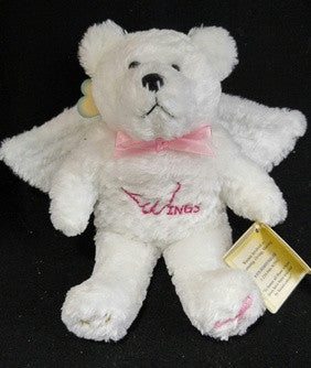 Breast Cancer Holy Bear With Angel Wings