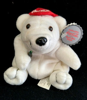 Coca Cola Bean Bags - In Storage Since 1997 - Bear With Red Ball Cap