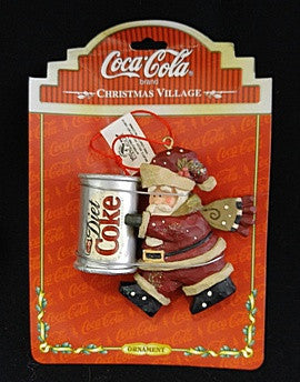 Diet Coke Santa Ornament