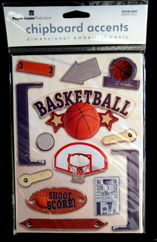 Paper House Production Basketball Chipboard Stickers