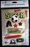 Paper House Production Soccer Chipboard Stickers