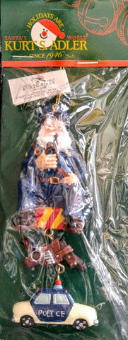 Santa Policeman Dangle Ornament