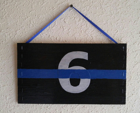 Officers Down Thin Blue Line Police Mini Pallet We've Got Your 6 Six