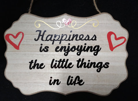 Happiness Inspirational Plaque