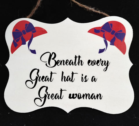 Red Hat Society - Beneath every great hat