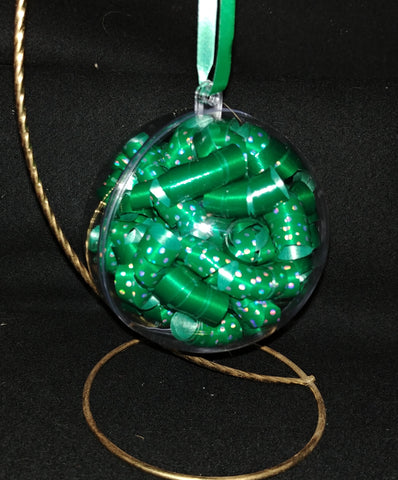 Green and Green Polka Dot Ornament - Customize with a Name