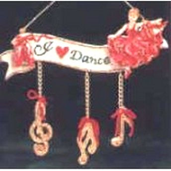 I Love Dance Ornament