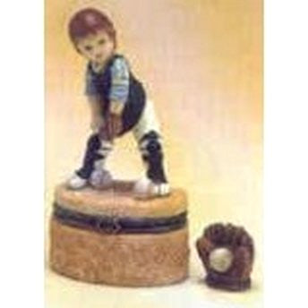 Child Baseball Trinket Box