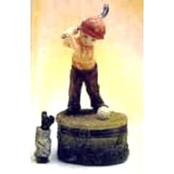 Child Golfing Golf Trinket Box
