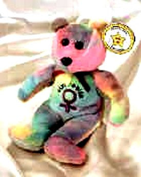 STAR # 8 Spice Tye Dyed Bear - Reminds Me Of The Spice Girls