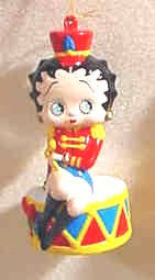 Betty Boop Drummer Girl Ornament