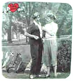 I Love Lucy Golfing Mousepad