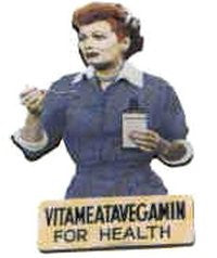 Lucy Vitameatavegamin Chunky Magnet