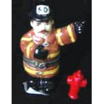 Fireman Trinket Box with Fire Hydrant