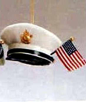 Armed Forces Helmet Ornament Navy