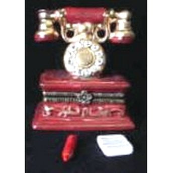 Old Antique Telephone Trinket Box