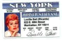 I Love Lucy Drivers License