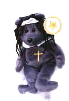STAR # 22 Black Nun Bear - Reminds Me Of Whoopie Goldberg
