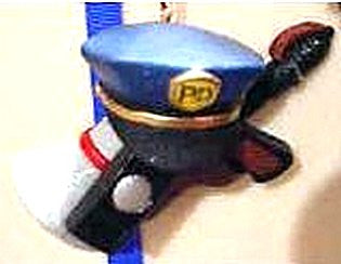 Police Hat and Megaphone Ornament