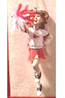 Cheerleader Ornament Standing