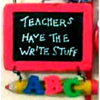 Teachers Have The Write Stuff Ornament