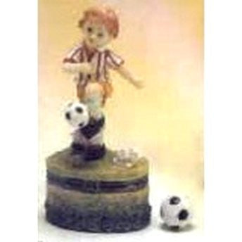 Child Soccer Trinket Box