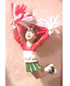 Cheerleader Ornament Jumping