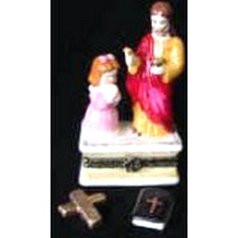 Jesus with Girl Trinket Box