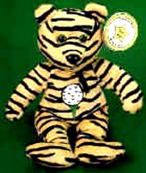 STAR # 12 Tiger Striped Golf Bear - Reminds Me Of Tiger Woods