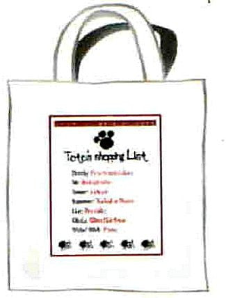 Toto's Shopping List Tote Bag